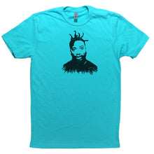 Load image into Gallery viewer, Tahiti Blue Adult Unisex T-Shirt with Ol' Dirty Bastard Graphic