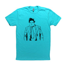 Load image into Gallery viewer, Tahiti Blue Adult Unisex T-Shirt with Chris Farley Graphic