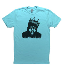 Tahiti Blue Adult Unisex T-Shirt with Biggie Smalls Graphic