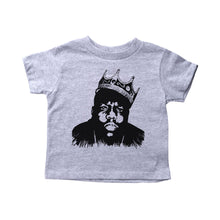 Load image into Gallery viewer, Grey Toddler T-Shirt with Biggie Smalls Graphic
