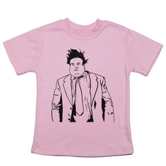 Pink Toddler T-Shirt with Chris Farley Graphic