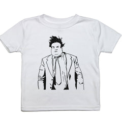 White Toddler T-Shirt with Chris Farley Graphic