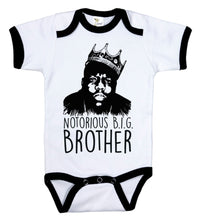 Load image into Gallery viewer, Notorious Big Brother / Big Bro Biggie Smalls Ringer Onesie