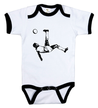 Load image into Gallery viewer, Bicycle Kick / Soccer Ringer Onesie