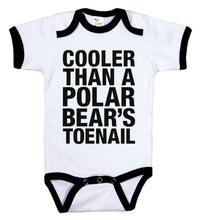 Load image into Gallery viewer, Cooler Than A Polar Bears Toenail / Outkast Ringer Onesie