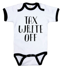 Load image into Gallery viewer, Tax Write Off / Tax Humor Ringer Onesie