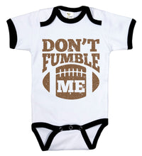 Load image into Gallery viewer, Don't Fumble Me / Football Ringer Onesie