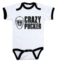 Load image into Gallery viewer, Crazy Pucker / Hockey Ringer Onesie