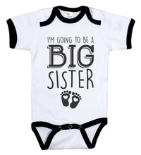 Load image into Gallery viewer, I'm Going To Be A Big Sister / Big Sis Ringer Onesie
