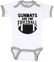Load image into Gallery viewer, Sundays Are For Football / Football Ringer Onesie