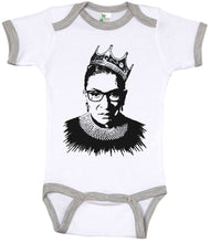 Load image into Gallery viewer, Notorious R.B.G/ Ruth Bader Ginsburg Ringer Onesie