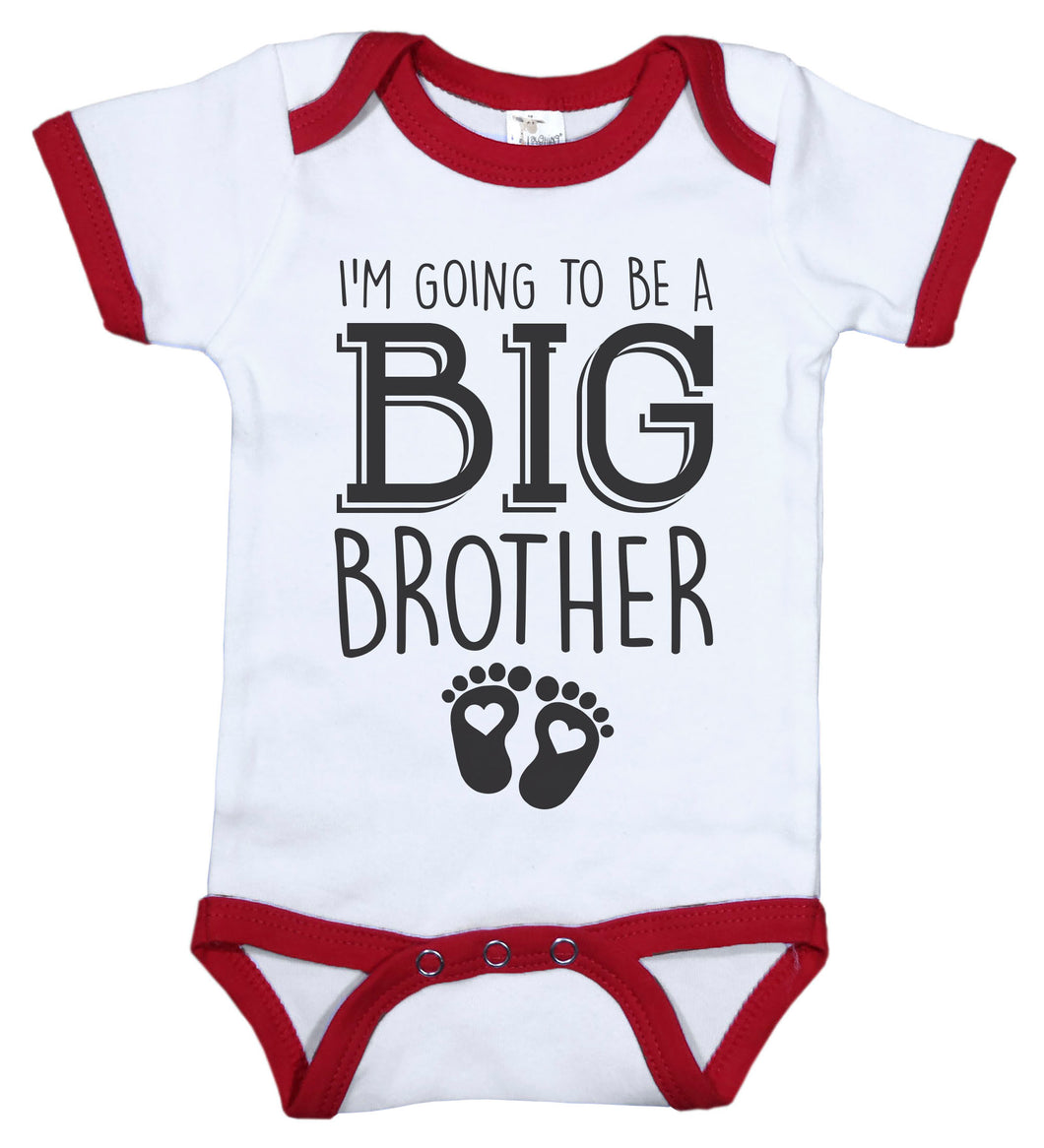 I'm Going To Be A Big Brother / Big Bro Ringer Onesie