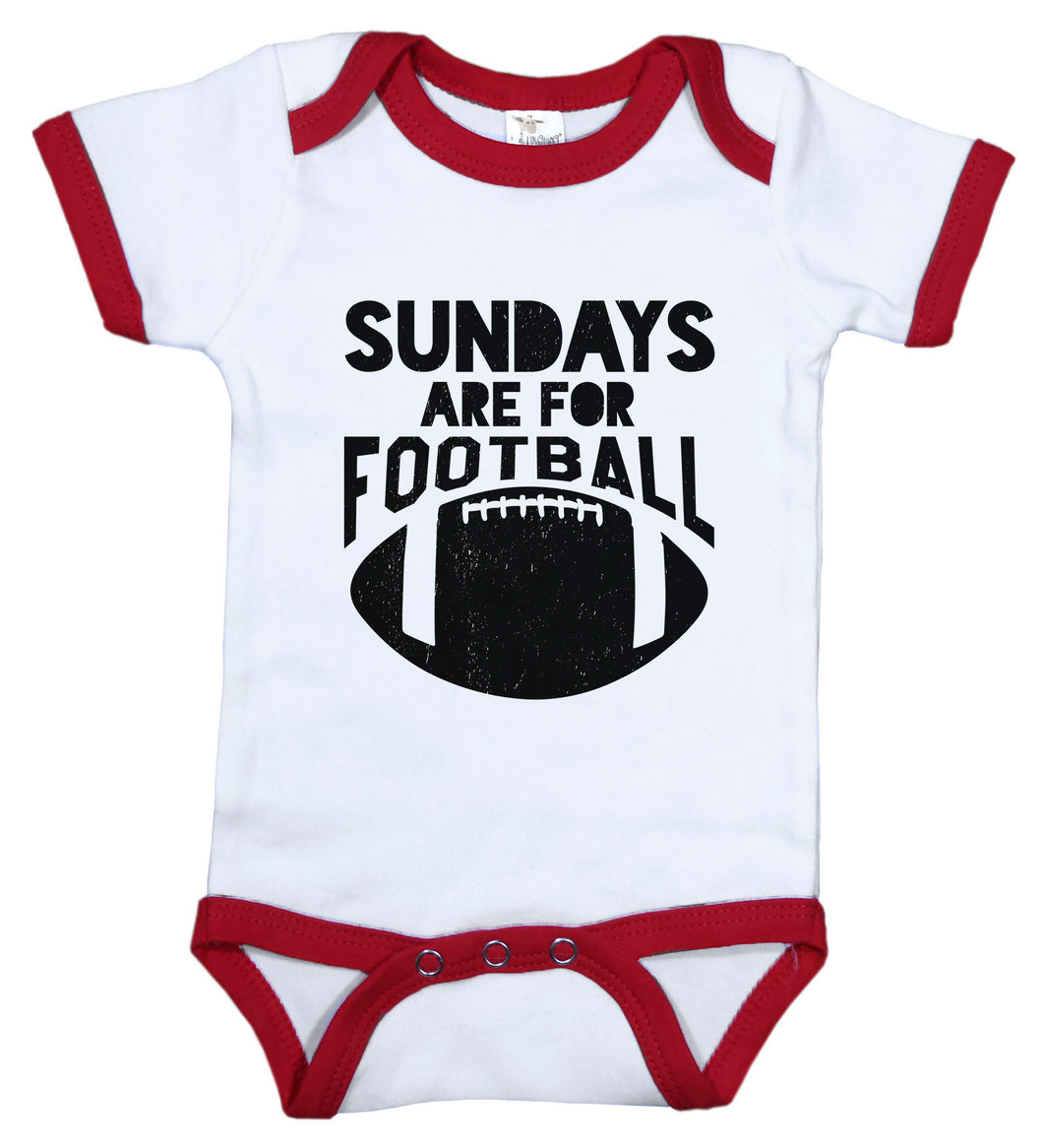 Sundays Are For Football / Football Ringer Onesie