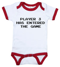 Load image into Gallery viewer, Player 3 Has Entered The Game / Video Game Ringer Onesie