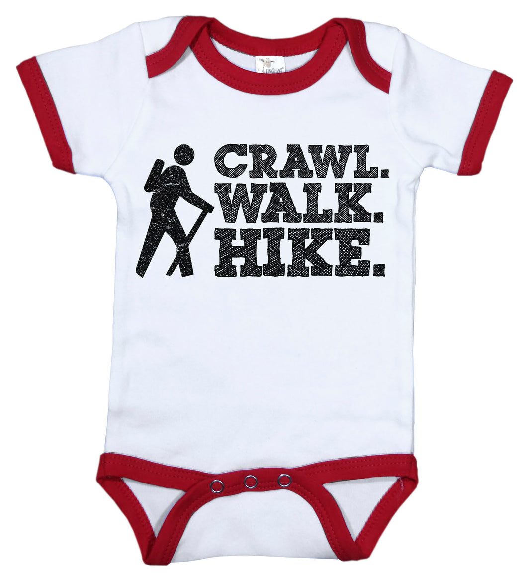 Crawl. Walk. Hike. / Sports Ringer Onesie