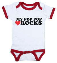 Load image into Gallery viewer, My Pop Pop Rocks / Grandpa Ringer Onesie
