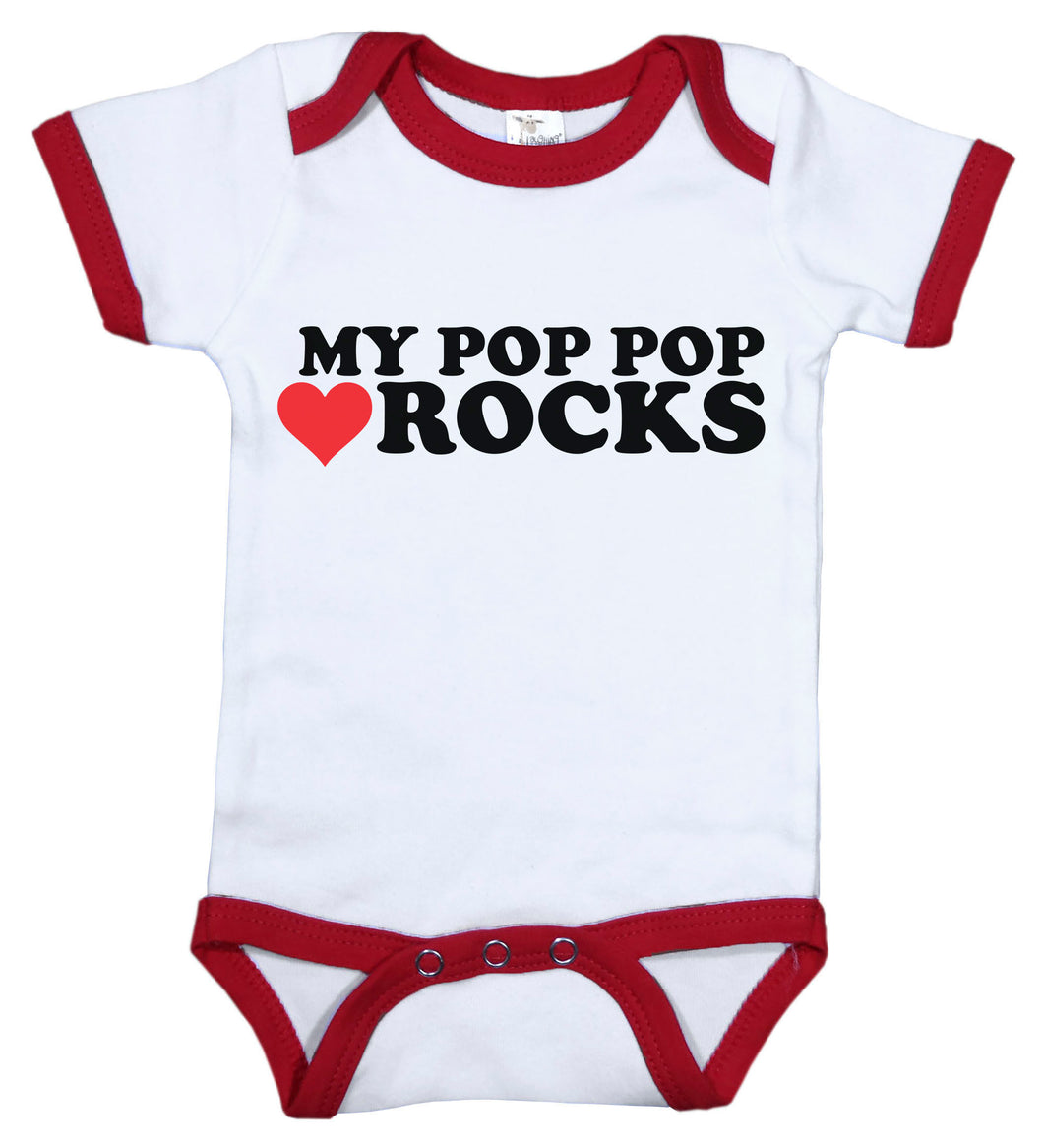 My Pop Pop Rocks / Grandpa Ringer Onesie