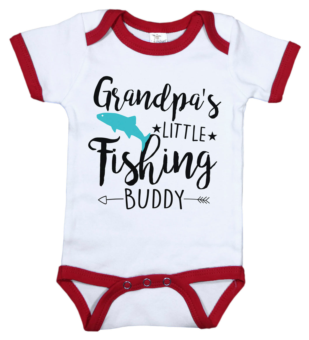 Grandpa's Little Fishing Buddy / Gpa Ringer Onesie