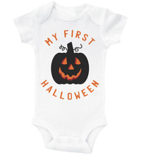 Load image into Gallery viewer, My First Halloween - Glowing Pumpkin / Basic Onesie