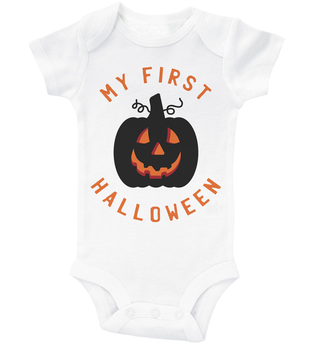 My First Halloween - Glowing Pumpkin / Basic Onesie