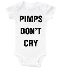 Load image into Gallery viewer, Pimps Don't Cry / Basic Onesie