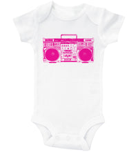 Load image into Gallery viewer, PINK BOOMBOX / 90'S Inspired Baby Onesie