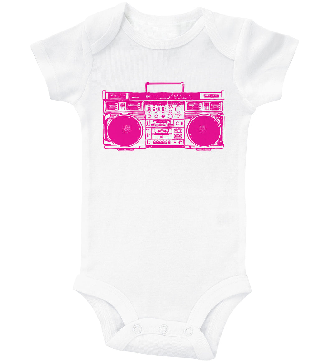 PINK BOOMBOX / 90'S Inspired Baby Onesie