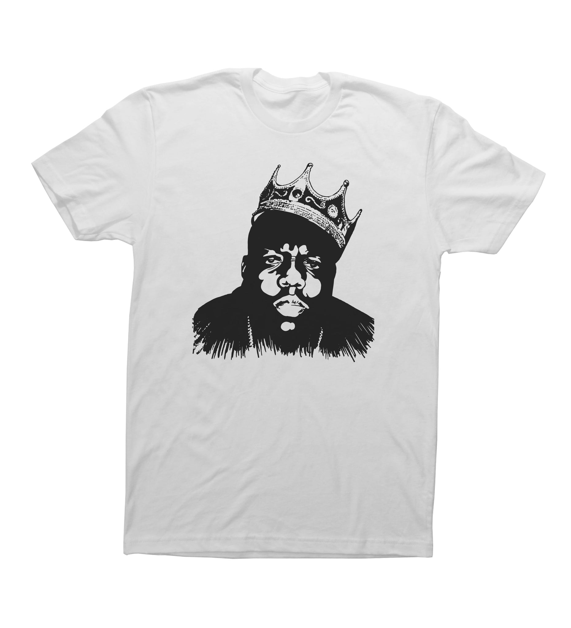 White Adult Unisex T-Shirt with Biggie Smalls Graphic
