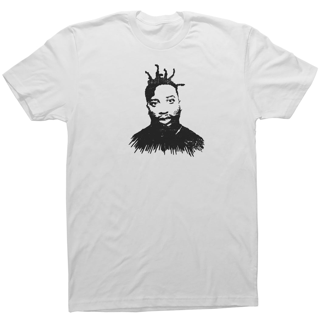 White Adult Unisex T-Shirt with Ol' Dirty Bastard Graphic