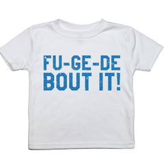 A short sleeved toddler tee with the text