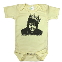 Load image into Gallery viewer, Yellow Onesie with Biggie Smalls Graphic