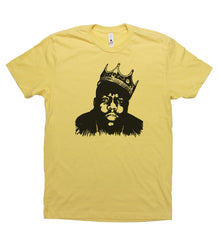 Yellow Adult Unisex T-Shirt with Biggie Smalls Graphic