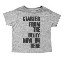 Load image into Gallery viewer, Started From the Belly Now I'm Here - Toddler Raglan