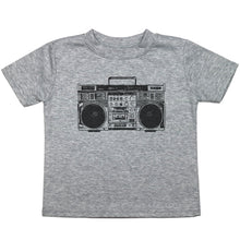 Load image into Gallery viewer, a toddler tee with a drawing of a boombox