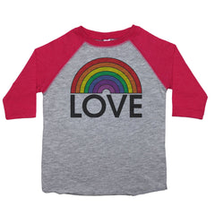 a toddler tee with the text