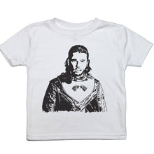 Load image into Gallery viewer, a drawing of kit harrington as jon snow from Game of thrones on a toddler tee