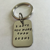 llavero i love you more than sushi experiencia kirei