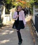 Contrasting Faux Fur Coat