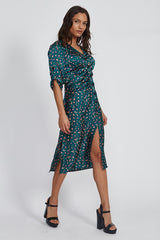 Teal Animal Dress