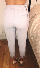Grey Lace Trousers