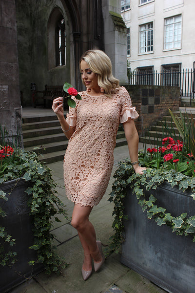 Nude Lace Dress