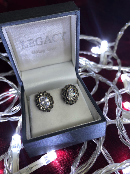 Cubic Zirconia Oval Earrings
