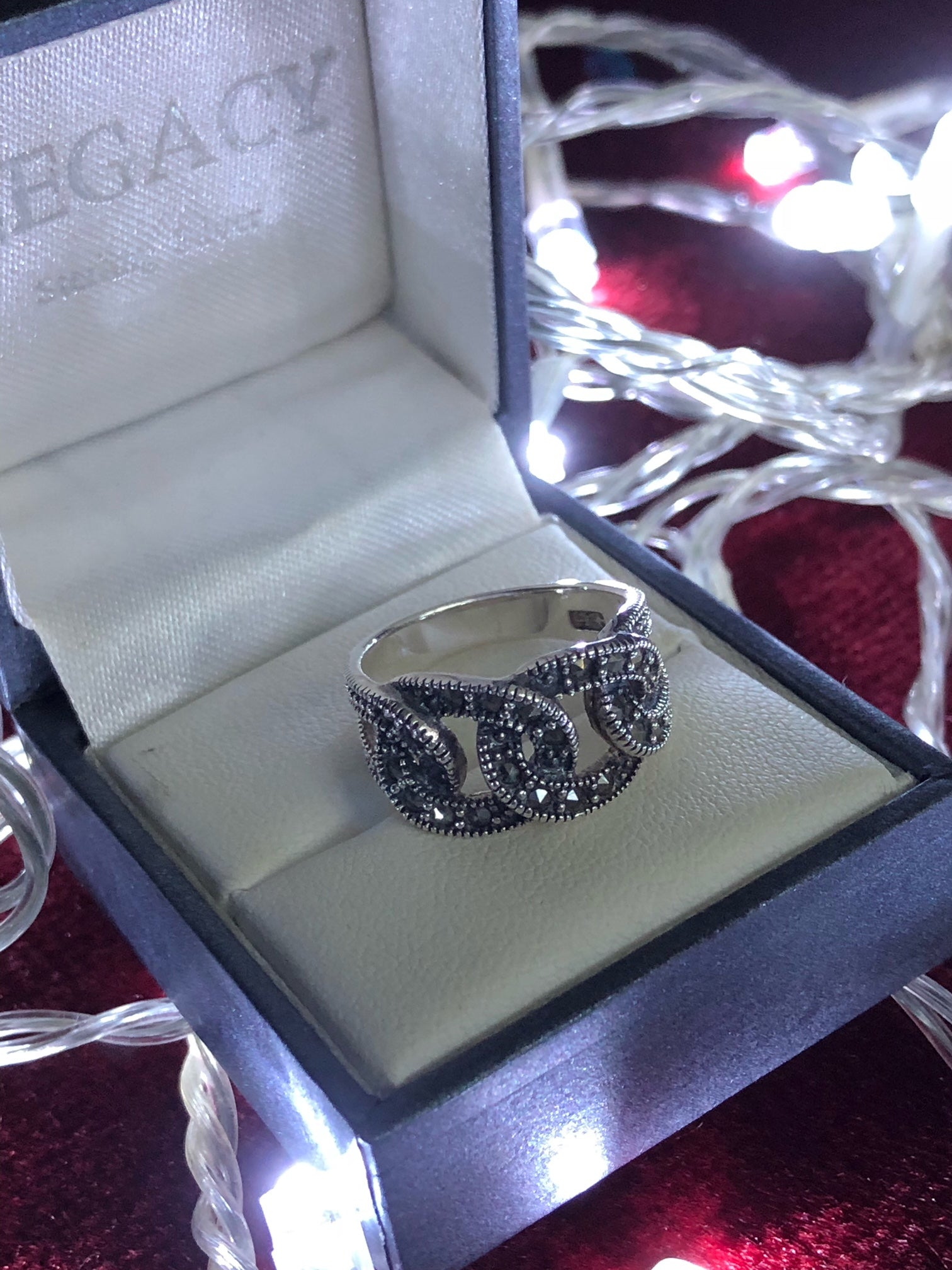 Marcasite Link Ring
