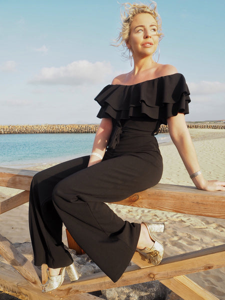 Black Off The Shoulder Jumpsuit