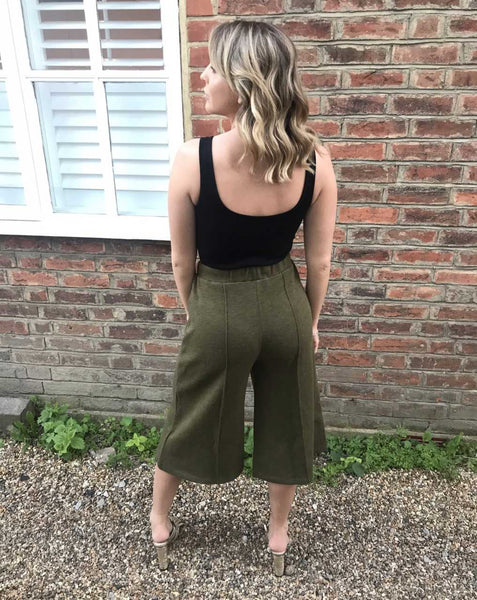 Green Culotte Trousers