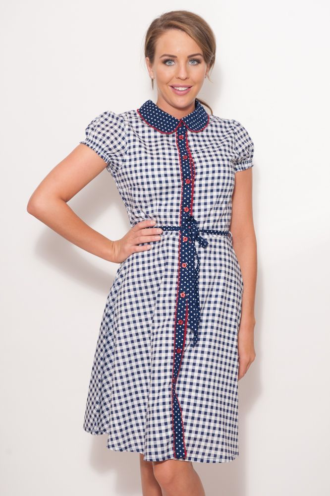 Gingham Check Shirt Dress