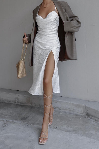 Blanco slip dress