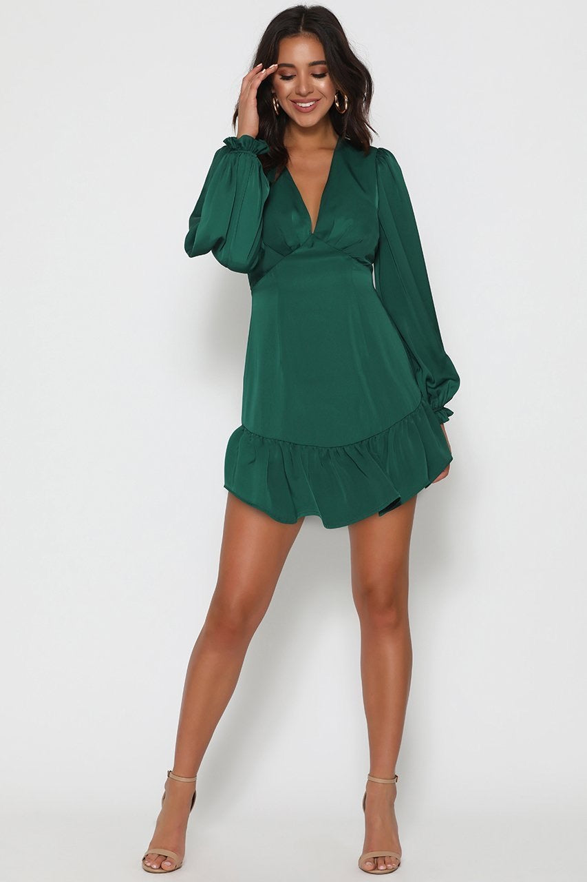 Frill hem mini dress