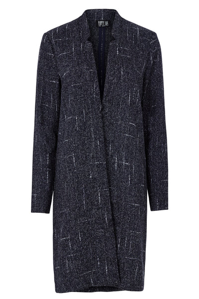 Navy Flecked Boyfriend Jacket
