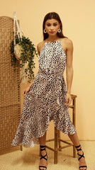 Cheetah Frill dress